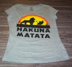WOMEN'S TEEN Juniors Walt Disney THE LION KING Hakuna Matata T-shirt MED... - $19.80