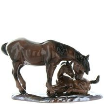 Hagen Renaker Specialty Horse Mustang Mare with Colt Ceramic Figurine image 6