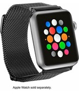 Platinum - Magnetic Stainless Steel Mesh Band for Apple Watch™ 38mm - Black - $19.34