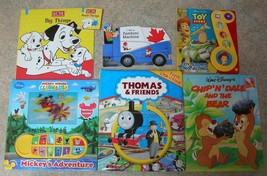 Lot of 7 Hardboard CHILDRENS BOOKS Picture Music Toddler Day Care Thomas Disney - $19.39