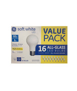 GE Soft White LED Bulbs 60W Replacement 16Pk All Glass Design A19 - $28.04