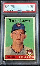 1958 TOPPS #261 TURK LOWN CUBS PSA 6 EX-MT - Baseball Card - $12.82