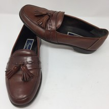 Bragano Brown Leather Tassle Dress Shoes Size 9 M Slip On Italy Made Col... - $68.99