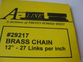 """A-Line #29217 Brass Chain 12"""" - 27 Links per inch image 2"""