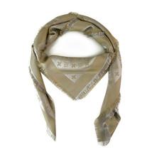 Louis Vuitton monogram Shine greige with gold shawl weaved jacquard silk... - €450,57 EUR