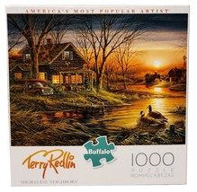 New Buffalo Games Terry Redlin Shoreline Neighbors Lake Cabin 1000 Pc Pu... - $39.55