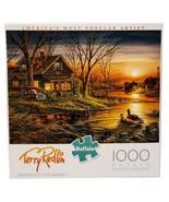 New Buffalo Games Terry Redlin Shoreline Neighbors Lake Cabin 1000 Pc Pu... - $39.55