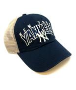 NAVY BLUE MLB NEW YORK YANKEES ADJUSTABLE MESH TRUCKER CURVED BILL RETRO... - $26.55