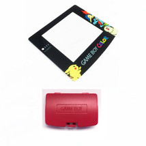New BERRY Game Boy Color Battery Cover + Pokemon Chikorita Screen GBC - $9.35