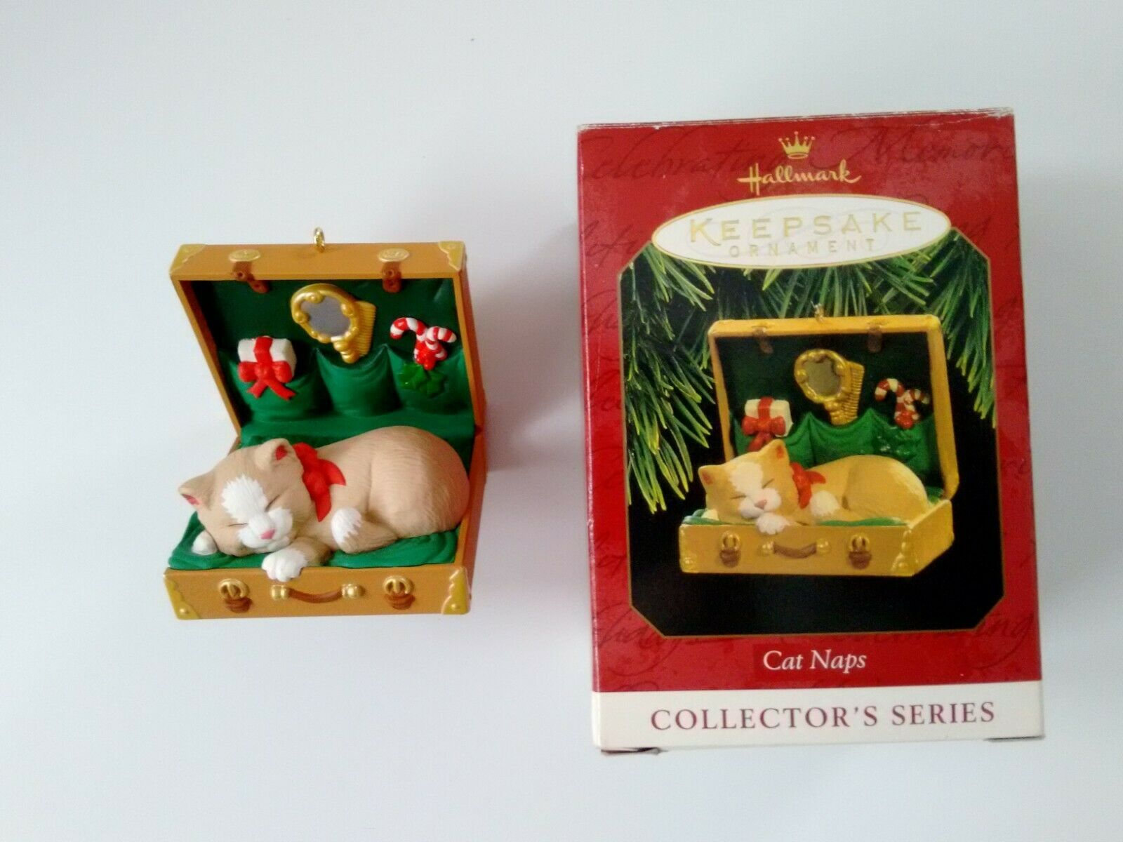 Primary image for Hallmark Keepsake Cat Naps Ornament #4 in Collector's Series 1997 06205