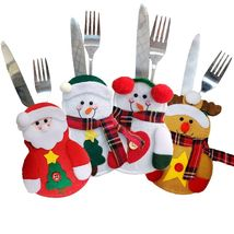 Christmas Cutlery Set Knife Fork Skirt Pants New Year Decorations Decor ... - €4,35 EUR+