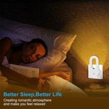 2pcs Sensor LED Night Lights  Lamp for Bedroom Hallway Nursery Plug in L... - €15,66 EUR