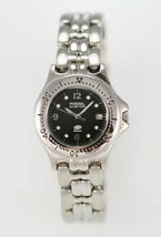 Fossil Blue Watch Womens Black Date Stainless Steel Silver 50m Battery Q... - $33.46
