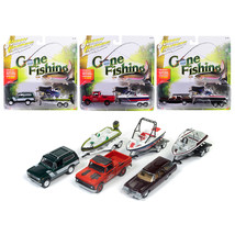 Gone Fishing 2017 Release 4A Set of 3 1/64 Diecast Model Cars by Johnny ... - $63.41