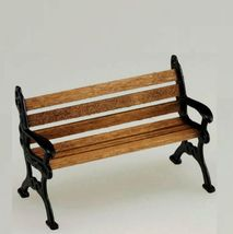 Dollhouse Park Bench Wood & Metal 1:24 Scale Island Crafts & Miniatures - $13.73