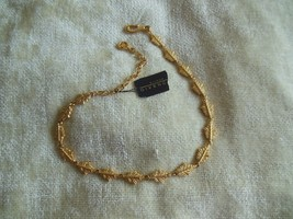 Vintage Bijoux Givenchy Gold Tone Leaf Necklace - $64.35