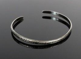 Vintage .925 Sterling Silver Mother Holds Her Child's Hand Cuff Bracelet... - $19.08