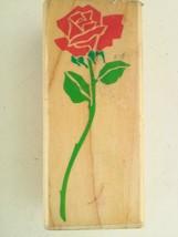 Posh Impressions Rubber Stampede Long Stemmed Rose Wood Rubber Stamp Z-3... - $11.05