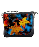 Mb2426 messenger bag autumn leaves beautiful nature leaf spring thumbtall