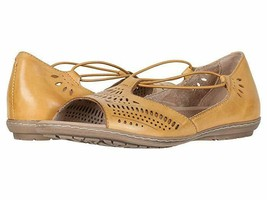 Earth Camelia Nauset Leather Slip On  Sandals Yellow 7.5 W - $69.29