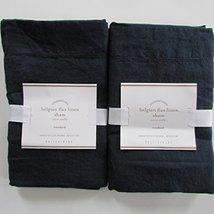 Pottery Barn Belgian Linen Flax Standard Shams ~*~Set Of Two~*~Midnight~ - $88.50