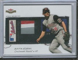 Austin Kearns 2004 Fleer Patchworks Game Used Jersey Patch 3 Color 32/10... - $22.32