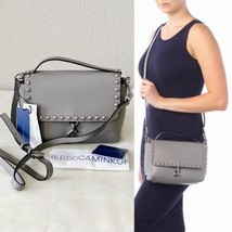 ✨New REBECCA MINKOFF Blythe Medium Flao Studded Leather Crossbody Bag Gr... - $135.40