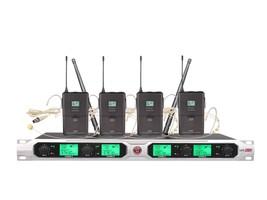BO-U8201 4 Channel UHF Wireless Microphone Beige Headset Microphone 500M... - $229.99