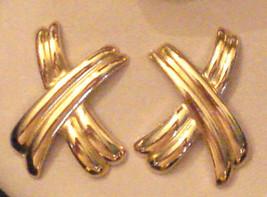 Avon Bold Stroke Pierced Earrings XX Kiss Hypo Allergenic 1989 VTG NEW i... - $19.75