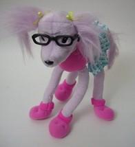 Barbie Poodle Pink Dog Eyeglasses Skirt Plush Stuffed Animal Mattel 2002 - $24.74