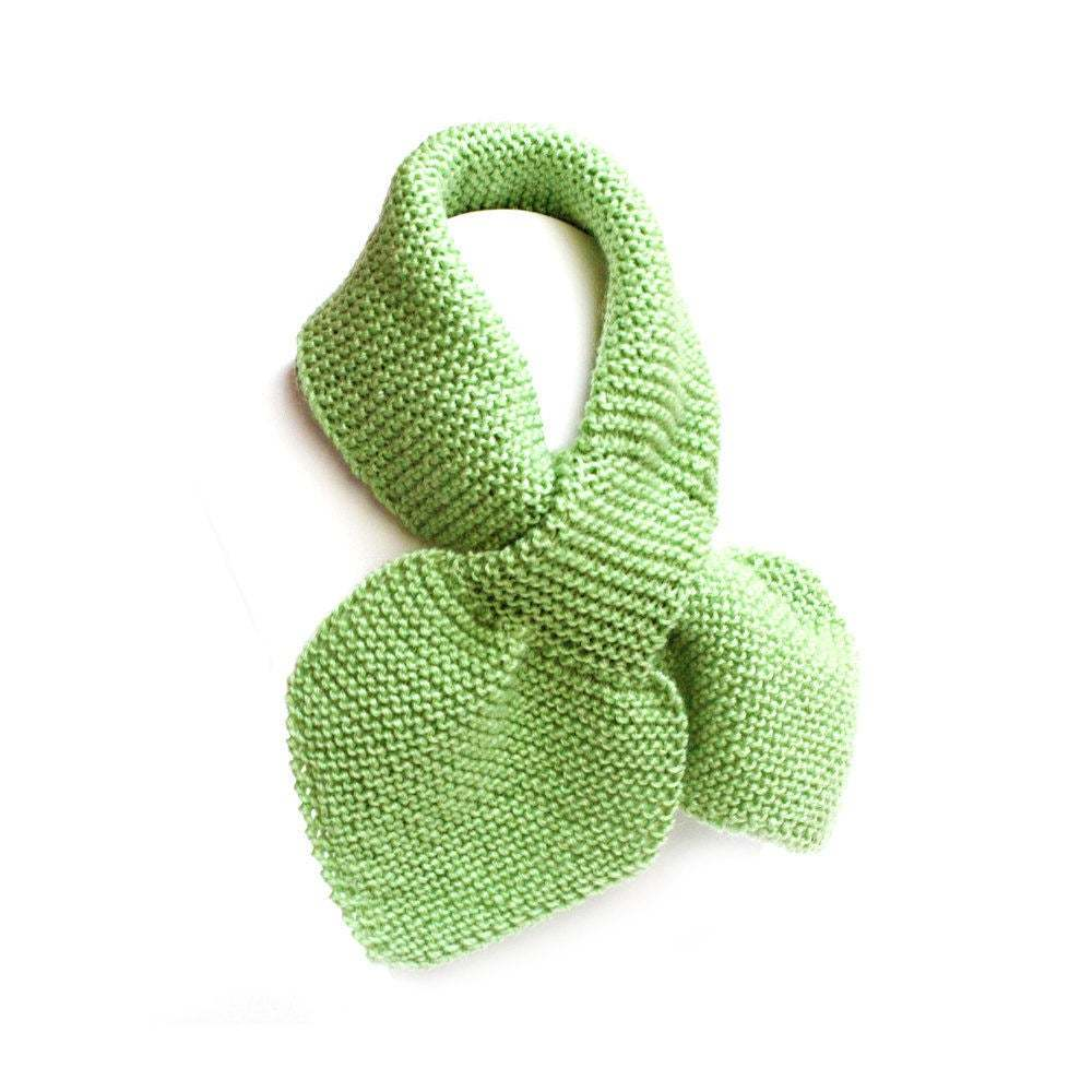 Primary image for Unisex Kid's Green Knit Scarf, Toddler 2 to 4 Years