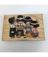 Stampendous UP007 Thanksgiving Day Precious Moments Wood Mount Rubber St... - $23.36