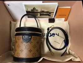 Louis Vuitton Cannes 2 way Bag Vanity Box Case M43986 Monogram Reverse Auth New - $3,287.13