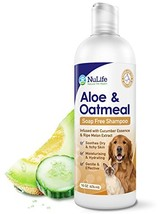 Oatmeal Shampoo For Dogs With Soothing Aloe Vera, Suitable For All Pets, With Cu