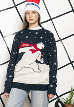 Coca Cola knit jumper - 90s vintage Xmas sweater - $39.88