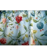 Waverly classics blue scalloped dahlia valance 54X19 - $18.50