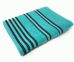 10 gestreift hell 100% gekämmte Baumwolle weich absorbierend türkisblau - $58.57