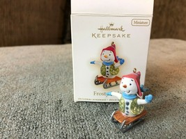 Hallmark Keepsake Ornament Miniature Frosty Rider 2009 Snowman on Sled - $14.03