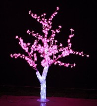 5 ft Christmas New year Light LED Crystal Cherry Blossom Tree Pink home decor - $329.00