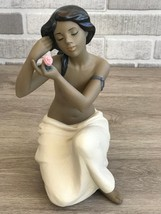 Nao by Lladro 02012023 Nude With Flower Porcelain Figurine Gres New  - $190.00