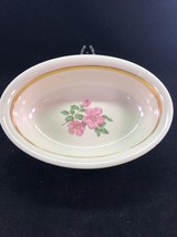 "Vintage Franciscan Cherokee Rose 9.75"" Vegetable Bowl *small chip* See Pics - $22.72"