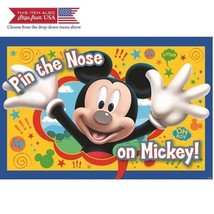 Mickey Party Game, Pin The Nose on Mickey, Multicolored - $8.76