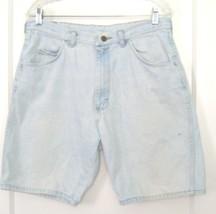 Wrangler Faded to White Denim Blue Jean Shorts 100% Cotton Sz L - $23.74