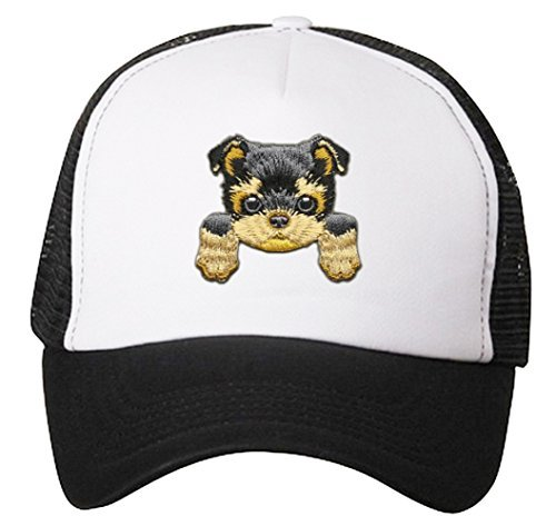 Yorkshire Hat Cute Puppy Dog Snapback Cap (Trucker)