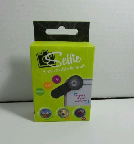 SELFIE MOBILE LENS KIT 3 IN 1 BLACK INTERCHANGEABLE LENS SMART PHONE COMPATIBLE