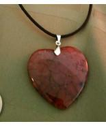 Necklace Pink Dragon Vein Agate  Boho Chic Natural Healing Stone Boho Chic - $19.79