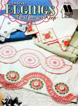 Edgings to Give or Keep Annie's Attic Crochet Beatiful Edgings Towels, Pillows - $9.95