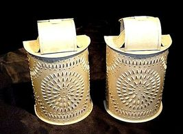 Interior Accents Metal Candle Holders with Glass AA18-1339 Vintage Pair image 3