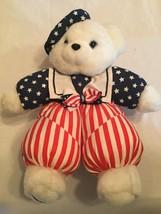 Dan Dee Liberty Bear 1994 patriotic Vintage USA boy sailor stars stripes - $14.99