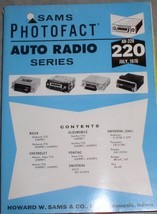 Sams Photofact AUTO RADIO Series Manual AR-220, JULY 1976 [Paperback] [J... - $9.40